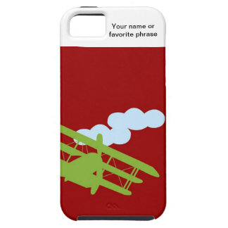 Airplane on plain red background iPhone 5 cases
