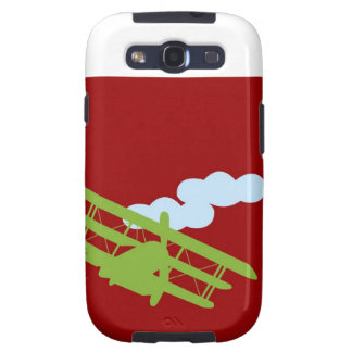 Airplane on plain red background galaxy SIII case