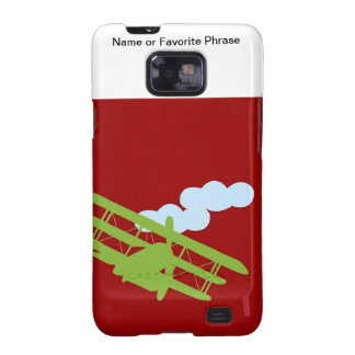 Airplane on plain red background galaxy SII cases