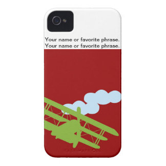 Airplane on plain red background iPhone 4 case