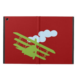 Airplane on plain red background iPad air cover