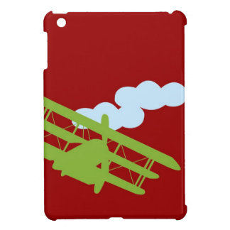 Airplane on plain red background case for the iPad mini