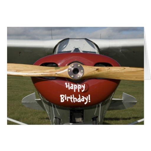 Airplane Pilot Happy Birthday Card