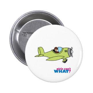 Airplane Pilot - Medium 6 Cm Round Badge