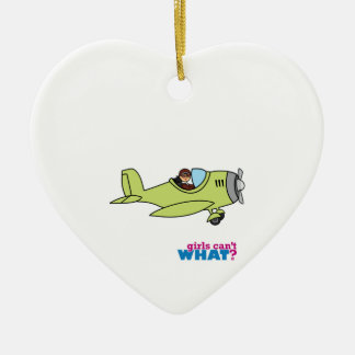 Airplane Pilot - Medium Christmas Ornament