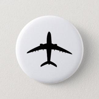 airplane plane aircraft icon 6 cm round badge