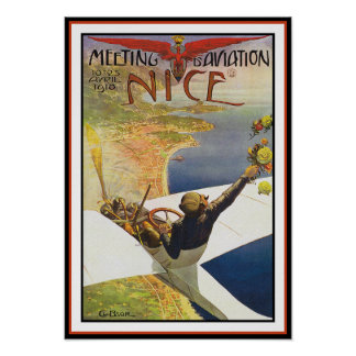 Airplane Poster Print Meeting d Aviation