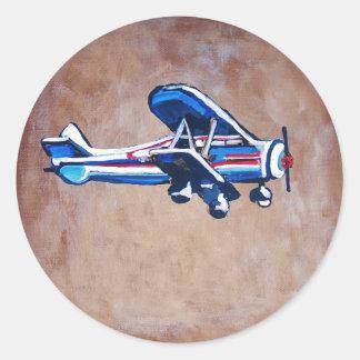 Airplane Round Sticker