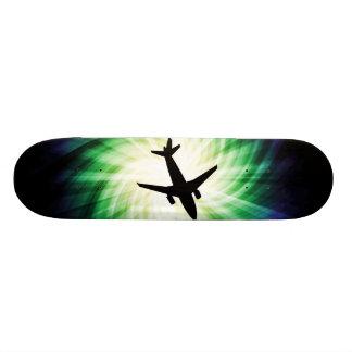 Airplane Silhouette; Cool Custom Skate Board