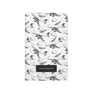 Airplane Sketch Personalized Journal
