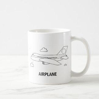 Airplane sketch printed Mug