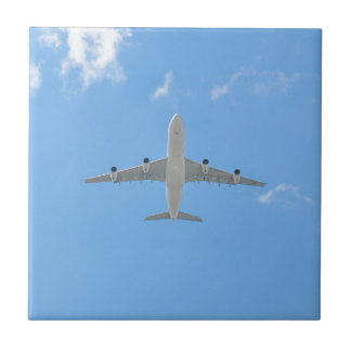 Airplane Small Square Tile