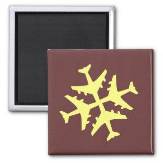 Airplane Snowflake Magnet