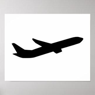 Airplane take off depature poster