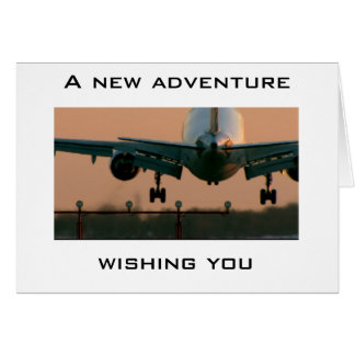 AIRPLANE TAKING OFF-CARD FOR ANY NEW ADVENTURE CARD