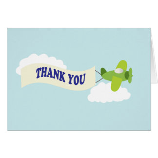 Airplane Thank you. Card
