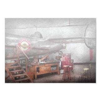 Airplane - The repair hanger 13 Cm X 18 Cm Invitation Card