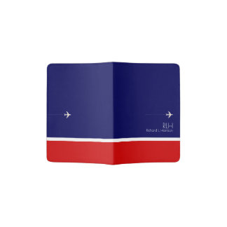 airplane travel blue & red, american passport holder