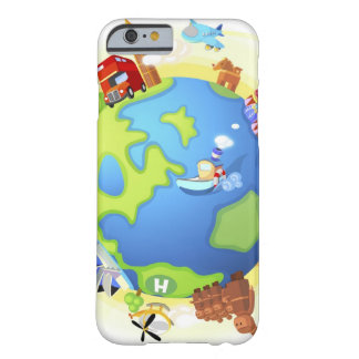 Airplane traveling various famous places of the barely there iPhone 6 case