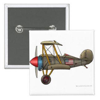 Airplane Vintage Biplane Pins Pinback Buttons