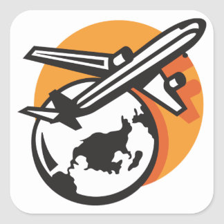 Airplane World Travel Stickers