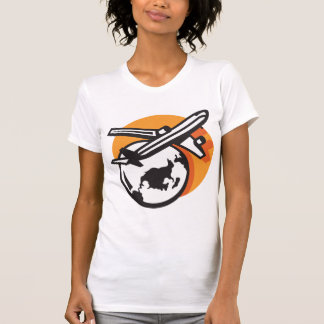 Airplane World Travel Womens T-Shirt