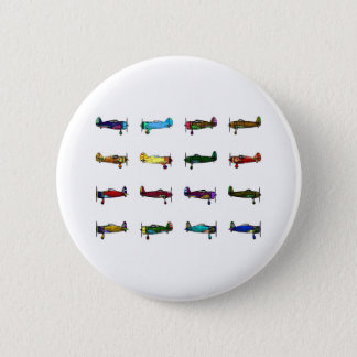 airplanes 6 cm round badge