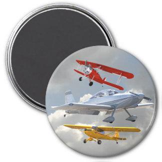 AIRPLANES 7.5 CM ROUND MAGNET