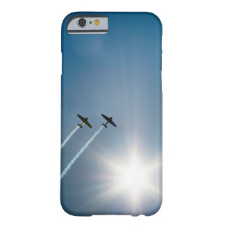 Airplanes Flying on Blue Sky with Sun. Barely There iPhone 6 Case