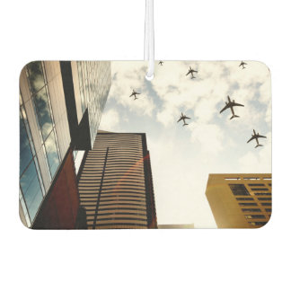 Airplanes flying over buildings car air freshener