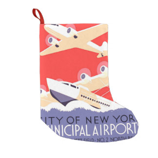 Airplanes Flying Vintage Propeller Planes Small Christmas Stocking