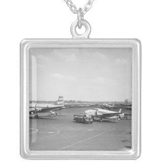 Airplanes Silver Plated Necklace