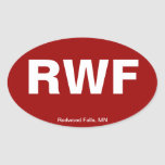 Airport Code - Redwood Falls, Minnesota Oval Stickers
