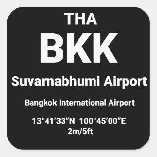 Airport Code Sicker - BKK Bangkok Thailand Square Sticker