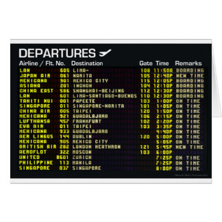 Airport Departures Greeting Card