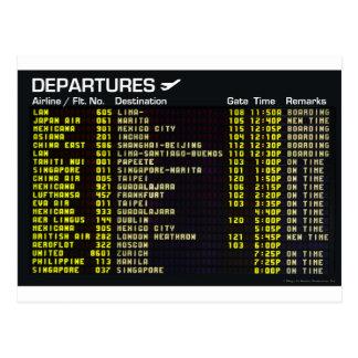 Airport Departures Postcard