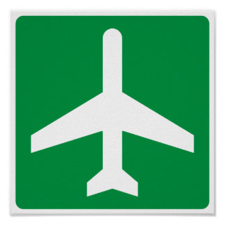 Airport Higway Sign Poster