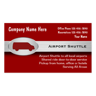 Airport Shuttle Business Cards