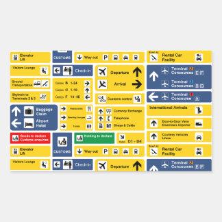 Airport Signs Rectangular Sticker