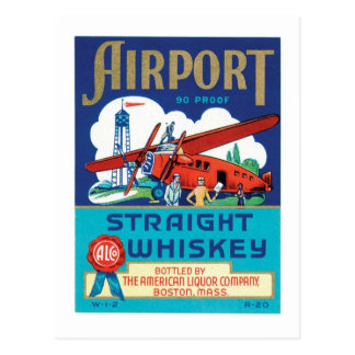 Airport Straight Whiskey Postcard