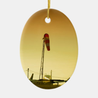 Airport sunset christmas ornament