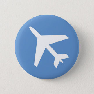 Airport symbol 6 cm round badge