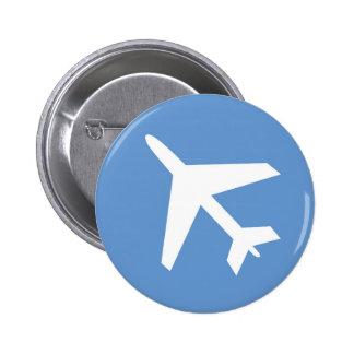 Airport symbol 6 cm round badge
