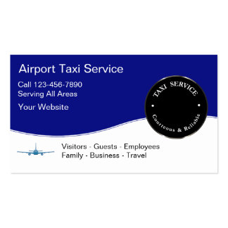 Airport Taxi Service Business Cards