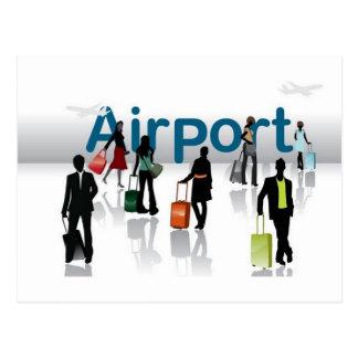 Airport terminal postcard
