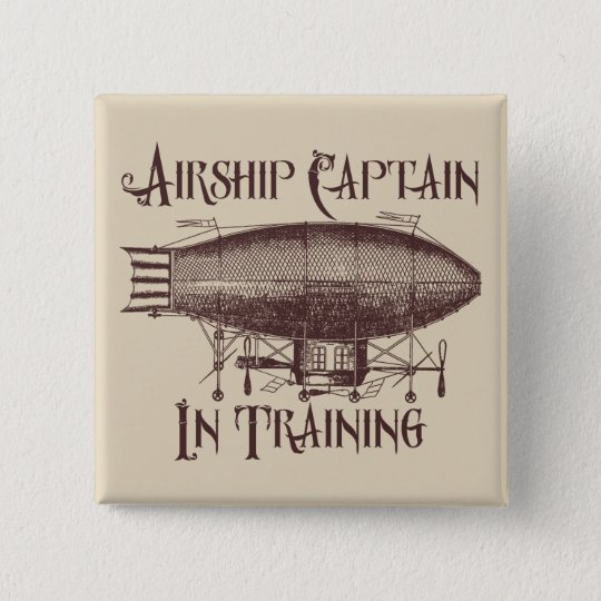 Airship Captain in Training, Steampunk 15 Cm Square