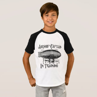 Airship Captain in Training, Steampunk for Kids T-Shirt