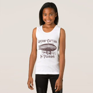 Airship Captain in Training, Steampunk for Kids Tank Top