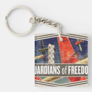 Airshow Double-Sided Square Acrylic Key Ring