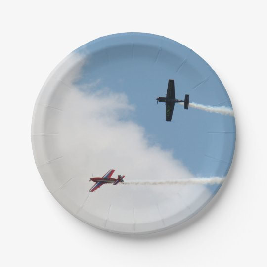 Airshow Fixed Wing Aeroplane Dogfight Paper Plate